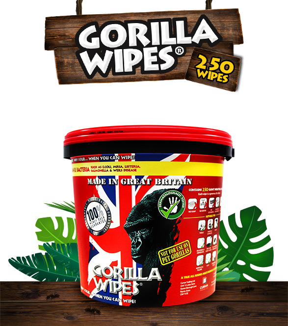 Gorilla Wipes® - 250 Antibacterial Wipes