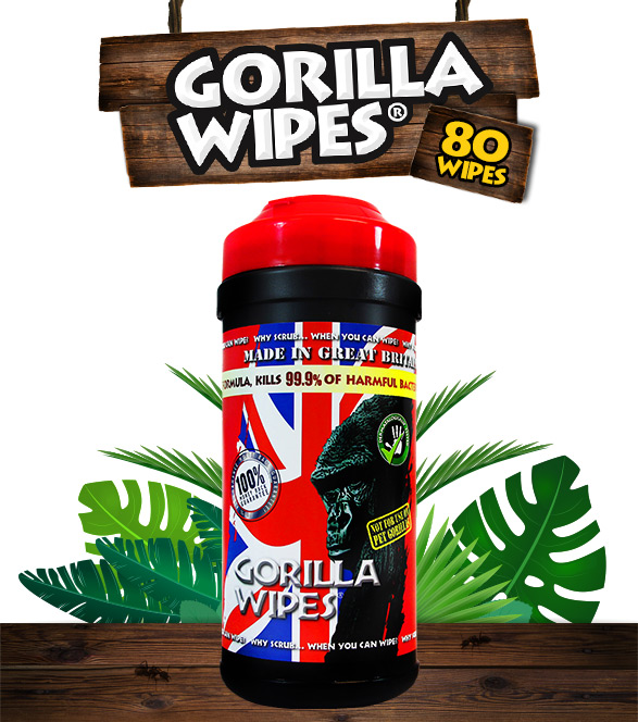 Gorilla Wipes® - 80 Antibacterial Wipes